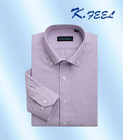 Vertical striped mens two-tone collar shirt