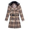 plus size checked women european style coats
