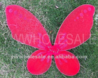 Fashion girls red color angel butterfly wings
