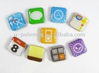 NEW SET 3G 3GS 4G BUTTON ICON FRIDGE MAGNETIC MagNICI FLAT MAGNET STICK-100sets/lot