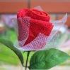 Valentine's rose towel