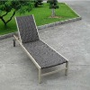 adjustable rattan sun lounger for outdoor used
