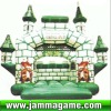 vivid design hottest selling inflatable castle,inflatable house with slide