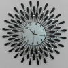 60cm Sun shape Iron art Taiwan machine clock