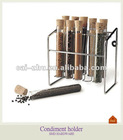 Glass tube spice rack sets