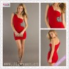 2103-1hs Custom Made Hot Sale Red One Shoulder Soft Fabric Mini Short Sexy Ruching Cocktail Dress