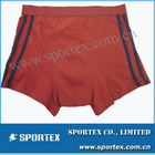 OEM red solid 100% cotton boxer shorts
