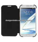 leather flip case for Samsung Galaxy Note 2 N7100