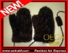 AKLGM1124BN knit mink fur gloves. Luxury genuine fur gloves with exquisite handmade. Hot selling with wholesale price