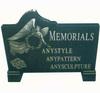 110cm*90cm memorial black marble gravestone