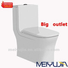 4 inchs Ceramic fashion design water closet washdown one piece toilet
