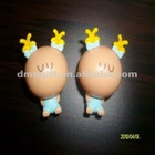 small PVC cartoon figurine toy for kids/mini injected plastic figure