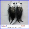 love heart Feather light cute new dangle earrings made in China