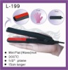 Black mini infared portable hair straightener