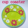 3D silicone rubber coaster with flower shape