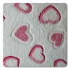 2012 fashionable heart printed coral fleece fabric/velvet