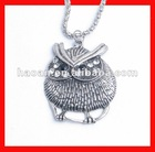 2012 The Latest New antique silver owl necklace wholesale ACJ-006