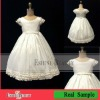 2012 Fashion design lovely white cap sleeves flower girl dresses