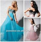 High Quality Beaded Sweetheart Pleated Straight Custom Made Fashion Evening Dress Designer