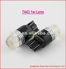 best car 7743 1w lens car led signal light