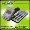 2012 remote control car fm transmitter with lcd screen