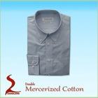 Mercerized Cotton Mens Casual Shirts woven shirts