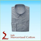 Mercerized Cotton Mens Casual Shirts woven shirts