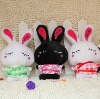 2011 new fashion lovely stuffed & Plush toys rabbit with dress in plush animal
