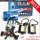Xenon Hid Kit Lamp Slim Ballast 55W H1 H3 H4 H7 H8/H9/H11 4300k 6000k 8000k 10000k 12000k Wholesale