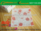 Custom design tempered glass tray
