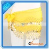 128 Golden Coins Yellow Belly Dancing Hip Scarf