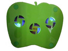 High quality apple shape laptop cooler pad cooling fan with Led Light and 3 fans