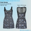 2013 fashion flower fabric for top mesh design vest dress