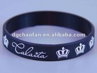black silicon band with white printing