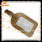 Customized travelling promotion leather luggage tag