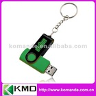24 Color 2GB/4GB/8GB dark green cheap swivel usb flash drive with keychain