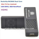 Google Android 4.1 dual core A9 Rockchips RK3066 MK808 1G DDR3 8GB flash 1.6GHz media player with tv tuner iptv server
