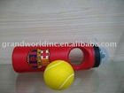 Sports water bottle with stress ball, PE bottle, water bottle