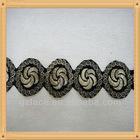 Swiss Silver Line guipure Embroidery Lace trim DNCX04