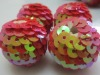 Red sequin ball beads, shining charm high quality sequin beads wholesales