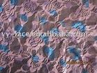 2012 fahsion printing pattern on nylon swiss trim lace fabric