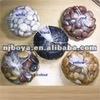 assorted polished pebble stones