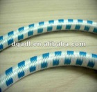 white and blue elastic ropes