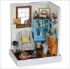 2012 hot sale fashion diy wooden dollhouse,Miniature wood house