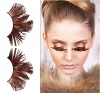 Brown Feather Hand-worked Reusable Eyelashes