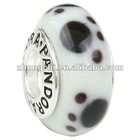 White & Black Lampwork glass beads(ZCS1021)