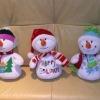 promotional animated plush snowman toys