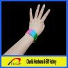 segmented-color snap bracelets with custom logo