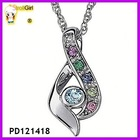 Fashion CZ diamond pendant necklace