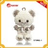 2012 fashion crystal bear pendant for key chain accessory